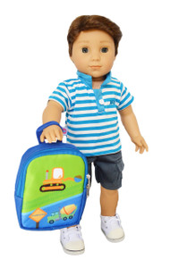 My Brittany's Blue Backpack for 18 Inch American Girl Dolls
