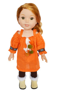 My Brittany's Fall Pumpkin Spice for Wellie Wisher  Dolls-Glitter Girls- Hearts 4 Hearts