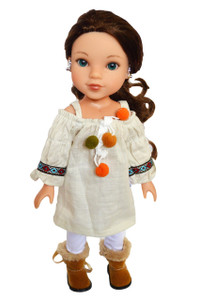 My Brittany's Ivory Mocha Fall Set for Wellie Wisher Dolls