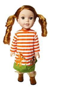 My Brittany's Woodland Dress for Wellie Wisher Dolls