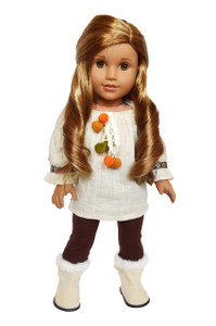 My Brittany's Ivory Mocha Outfit for American Girl Dolls- 18 Inch Doll Clothes
