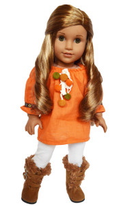 My Brittany's Fall Pumpkin Spice for American Girl Dolls- 18 Inch Doll Clothes