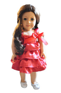 My Brittany's Cranberry Party Dress for American Girl Dolls