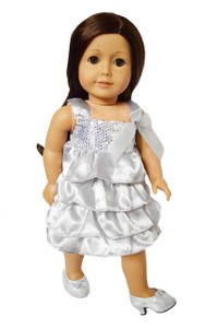 My Brittany's Silver Party Dress for American Girl Dolls