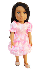 My Brittany's Pink Party Dress for Wellie Wisher Dolls