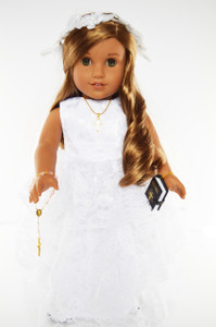 My Brittany's Premium Lace Communion Gown for American Girl Dolls-18 Inch Doll Clothes