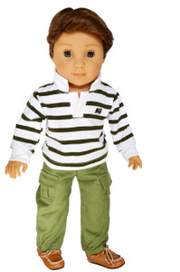 My Brittany's Green Polo Outfit for American Girl Doll Logan