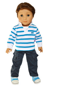 My Brittany's Blue Polo Outfit for American Girl Boy Dolls