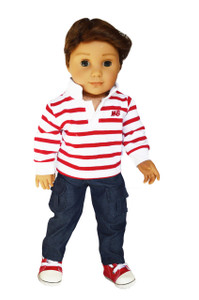 My Brittany's Red Polo Outfit for American Girl Boy Dolls