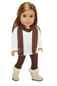 My Brittany's Brown and Ivory Leggings Set for American Girl Dolls