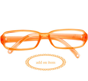 My Brittany's Tangerine Orange Reading Glasses for American Girl Dolls-Add on item