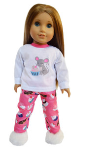 My Brittany's Cupcake Pjs for American Girl Dolls- 18 Inch Doll Clothes