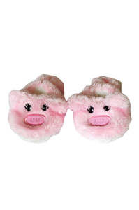 My Brittany's Little Piggy Slippers for Wellie Wisher Dolls- Glitter Girl Dolls and Hearts to Hearts Dolls- 14 Inch Doll Slippers