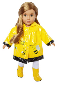 My Brittany's Bumble Bee Raincoat for American Girl Dolls 18 Inch Doll Clothes