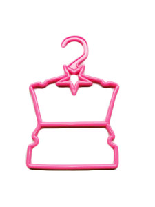 My Brittany's Pink Star Hangers for Wellie Wisher Dolls- Hang Your Tops and Bottoms
