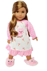My Brittany's Piggy Nightgown for American Girl Dolls- Coming Soon