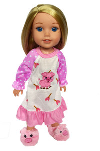 My Brittany's Piggy Nightgown for Wellie Wisher Dolls