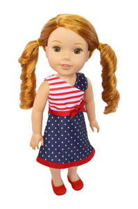 My Brittany's American Pride Dress for Wellie Wisher Dolls-Hearts for Hearts Dolls and Glitter Girl Dolls