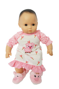 My Brittany's Little Piggy Nightgown for Bitty Baby Dolls and Bitty Twin Dolls