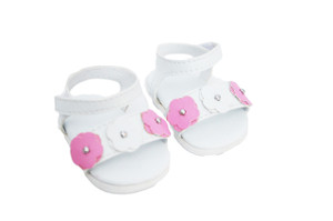 My Brittany's Pink and White Flower Sandals for American Girl Dolls and Bitty Baby Dolls