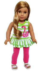 My Brittany's Flower Flamingo Outfit for American Girl Dolls-18 Inch Doll Clothes