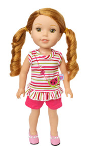 My Brittany's Watermelon Delight Summer Outfit for Wellie Wisher Dolls-14 Inch Doll Clothes