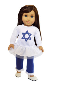 My Brittany's Hanukkah Collection Star of David Outfit for American Girl Dolls- 18 Inch Doll Clothes