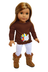 My Brittany's Colorful  Turkey Outfit For American Girl Dolls- 18 Inch Doll Clothes