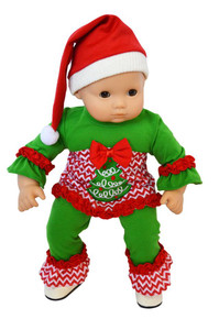 "My Brittany's ""Oh Christmas Tree' Lounge Set for Bitty Baby Dolls- 15 Inch Doll Clothes"