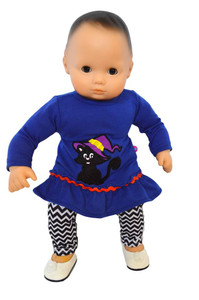 My Brittany's Spooky Cat Outfit for Bitty Baby Dolls- 15 Inch Doll Clothes