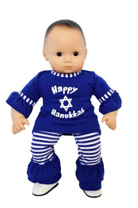 My Brittany's Happy Hanukkah Outfit for Bitty Baby Dolls- 15 Inch Doll Clothes
