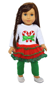 My Brittany's Candy Cane Lane for American Girl Dolls- 18 Inch Doll Clothes