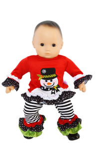 My Brittany's Jolly Snowman Outfit for Bitty Baby Dolls and Bitty Twins Doll