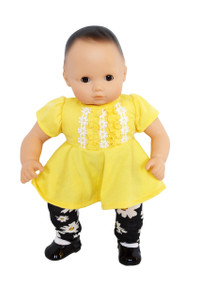 My Brittany's Daisy Leggings and Yellow Top for Bitty Baby Dolls and Bitty Twins