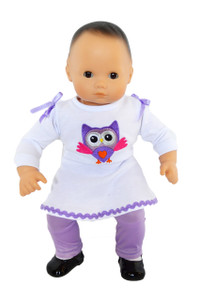 My Brittany's Lavender Owl Outfit for Bitty Baby and Bitty Twin Dolls