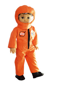 My Brittany's Orange Nasa Astronaut Outfit for American Girl Dolls- 18 Inch Doll Clothes