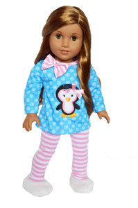 My Brittany's New Years Snowflake Penguin Outfit for American Girl Dolls