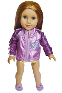 My Brittany's Gymnastics Jacket and Slippers for American Girl Dolls
