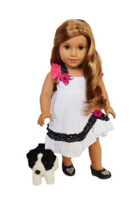 Salsa Dress for American Girl Dolls- 18 Inch Doll Clothes