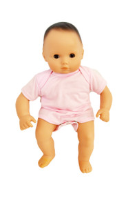Pink Baby Doll Romper Fits Bitty Baby Dolls- 15 Inch Baby Doll Clothes