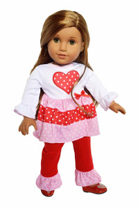 My Brittany's Valentines Day Outfits Compatible with American Girl Dolls, Our Generation Dolls and My Life as Dolls- 18 Inch Doll Clothes