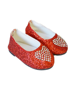 My Brittany's Red Heart Shoes Compatible with Wellie Wisher Dolls and Glitter Girl Dolls