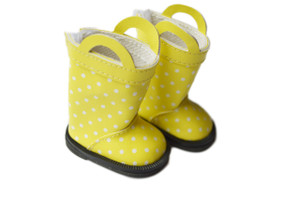 My Brittany's Yellow Dot Boots for American Girl Dolls