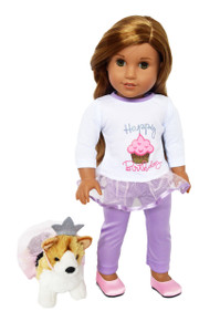 My Brittany's Happy Birthday Outfit with Corgi for American Girl Dolls