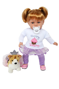 My Brittany's Happy Birthday Outfit with Corgi for Bitty Baby Dolls