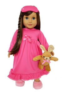 My Brittany's Pink Nightgown for American Girl Dolls with Sleep Mask