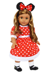 My Brittany's Red Dot Dress for American Girl Dolls Complete