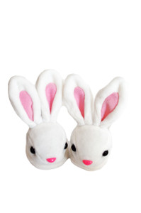 Mr. Long Ears Bunny Rabbit Slippers for American Girl Dolls, Our Generation Dolls,My Life as Dolls and Bitty Baby Dolls