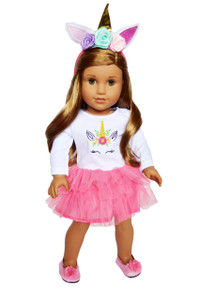 My Brittany's Pink Unicorn Outfit for American Girl Dolls