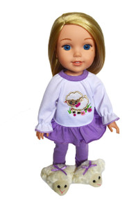 My Brittany's Lamb Pjs for Wellie Wisher Dolls,Hearts for Hearts Dolls and Glitter Girl Dolls